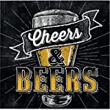 "16 Cheers & Beers Birthday Party 5"" Paper Beverage Napkins"