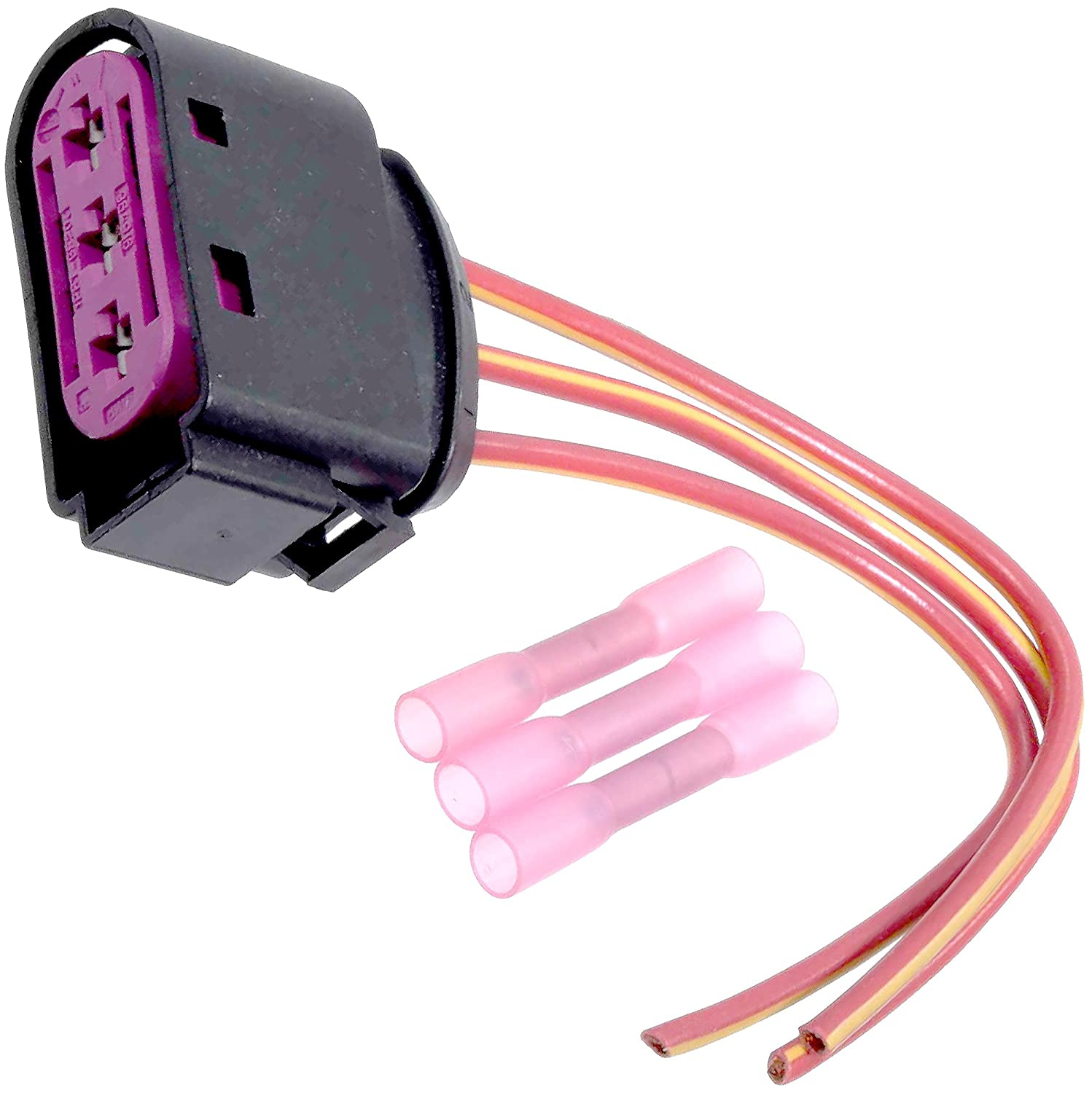 Apdty 133818 Wiring Harness Pigtail Connector Fits High 2006 Jetta Fuse Box Connectors Voltage Mounted On Battery 1998 Vw Beetle 1999 2005 Or Golf