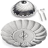 """Ectreme Vegetable Steamer Basket!Premium Stainless Steel - Collapsible 5.3"""" to 9.3""""!"""