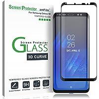 Verre Trempé Galaxy S8, amFilm Couverture Complète (Courbes 3D) Protecteur D'écran pour Samsung Galaxy S8 (1 Pièce, Noir)