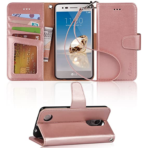 first rate c69ea 6c84b LG Aristo Case, LG Phoenix 3 Case, LG K8 2017 Case, LG Fortune Case, LG  Risio 2 Case, LG Rebel 2 LTE Case, Arae Wallet Case with Kickstand and Flip  ...