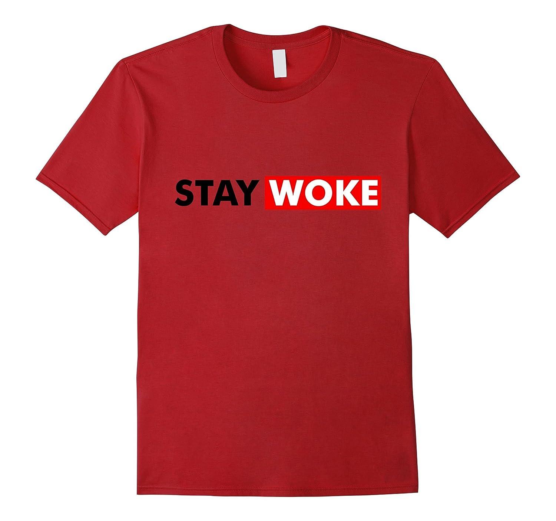 Stay Woke Protest T-Shirt Informed Gift Shirt-RT