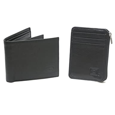 3b40504e46e26 RFID Blocking 10 Slot Bifold Mens Wallet with Genuine Leather Mini Wallet - RFID  Protection -