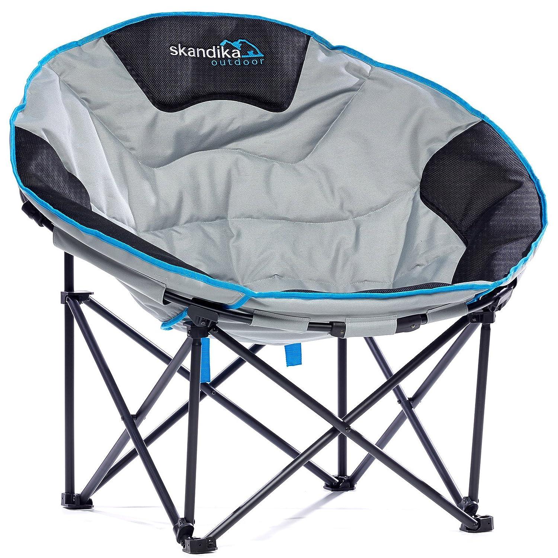 Skandika outdoor Moonchair Deluxe XXL Stuhl, Grau