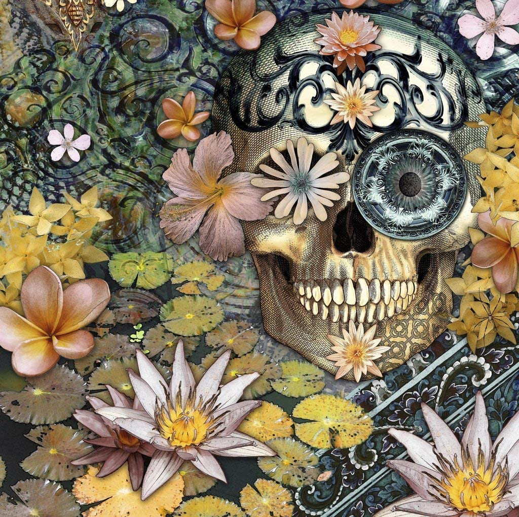 Wooden Jigsaw Puzzle - Day of The Dead - 256 Pieces by Nautilus Puzzles. Made in USA.