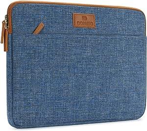 "DOMISO 13.3 inch Laptop Sleeve Case Water-Resistant Carrying Bag for 13"" MacBook Air 2014-2017/13.3"" ThinkPad L390 Yoga X380 Yoga/13.9"" Lenovo Yoga C930 GLASS/HP EliteBook 830 G5 840 G5 x360 G2, Blue"