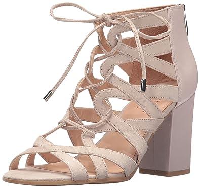 Franco Sarto Womens Meena Heeled Sandal Beige Size 60