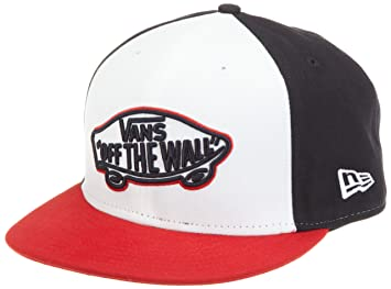 a4e2570ef49 Vans Home Team New Era Men s Hat white eclipse red Size 734  Amazon ...