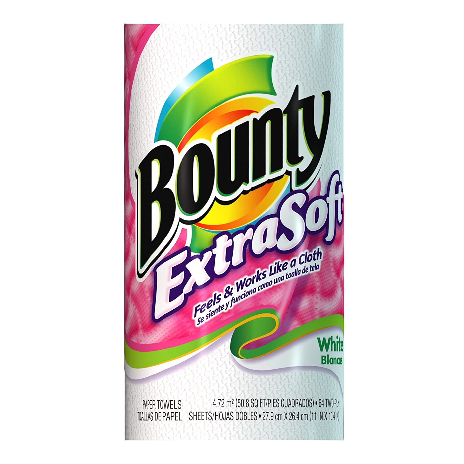 Amazon.com: Bounty Paper Towels, Extra Soft, Big Roll, White (Case of 24)[Certified Frustration-Free Packaging]: Health & Personal Care