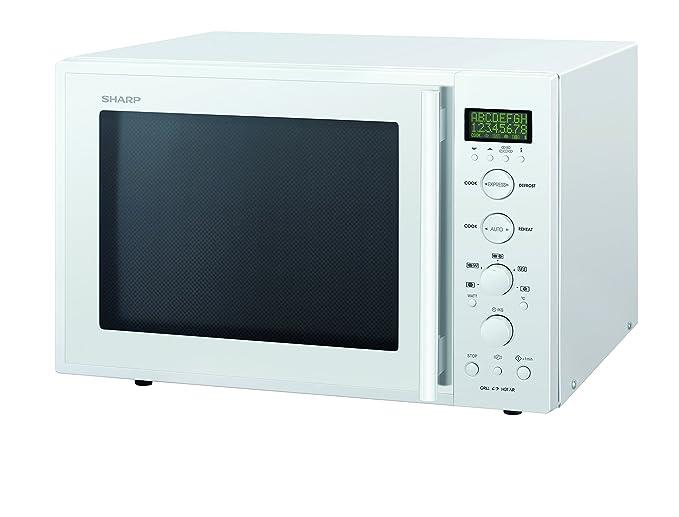 Sharp R-939W - Microondas (40 L, 900 W, Blanco, 1300 W, 36,2 cm ...
