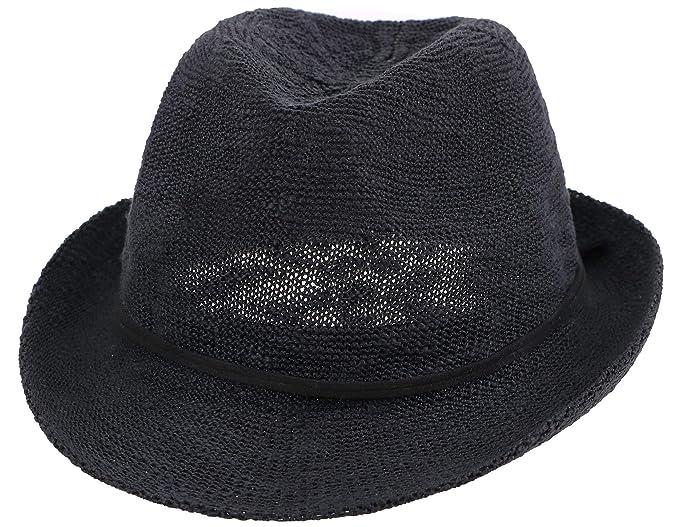 Simplicity Men   Women s Foldable Fedora Hat Short Brim Beach Sun ... 4b7e22180bd
