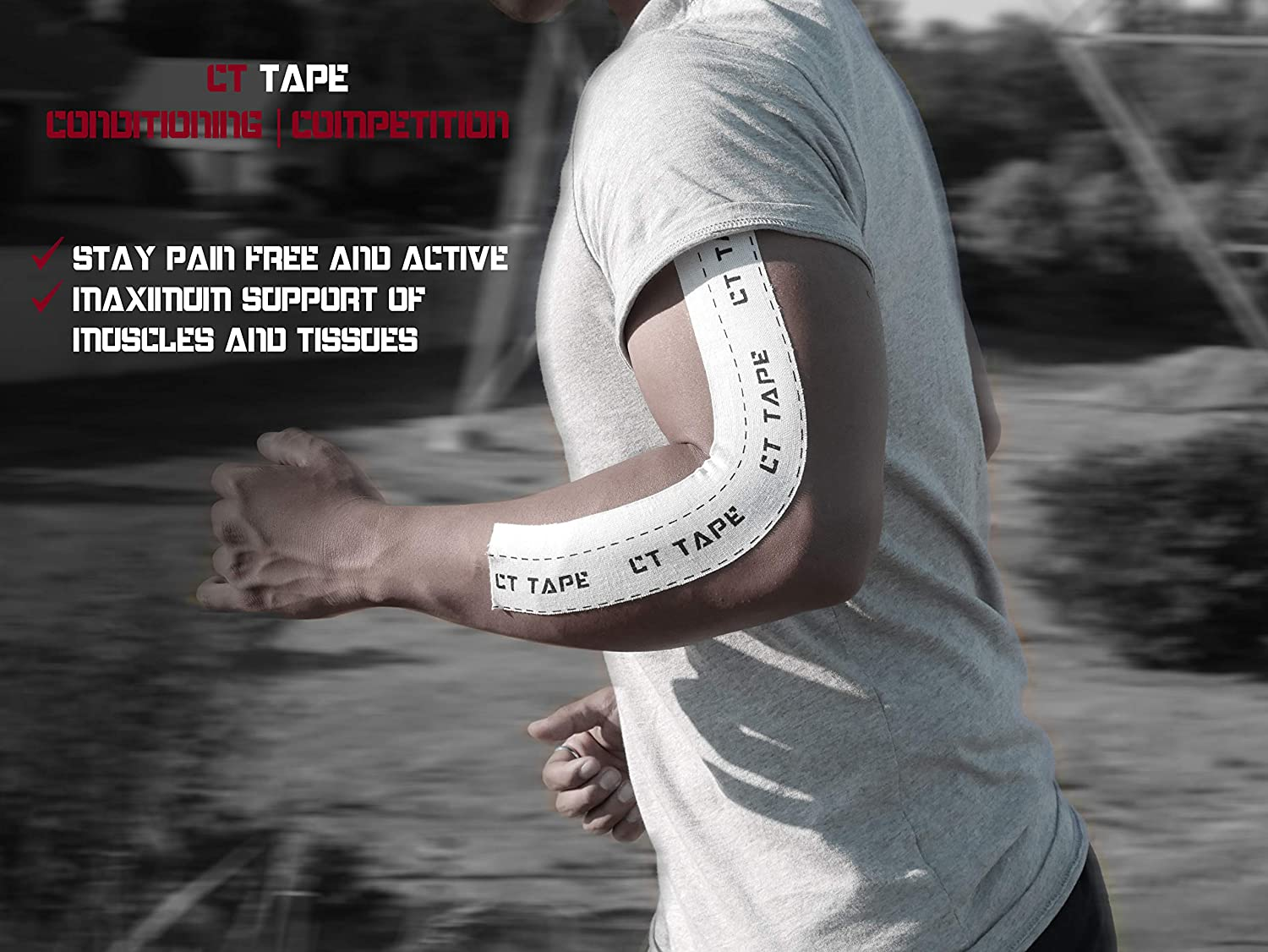 Amazon.com: CT Tape Kinesiology and Therapeutic Sports Tape for ...