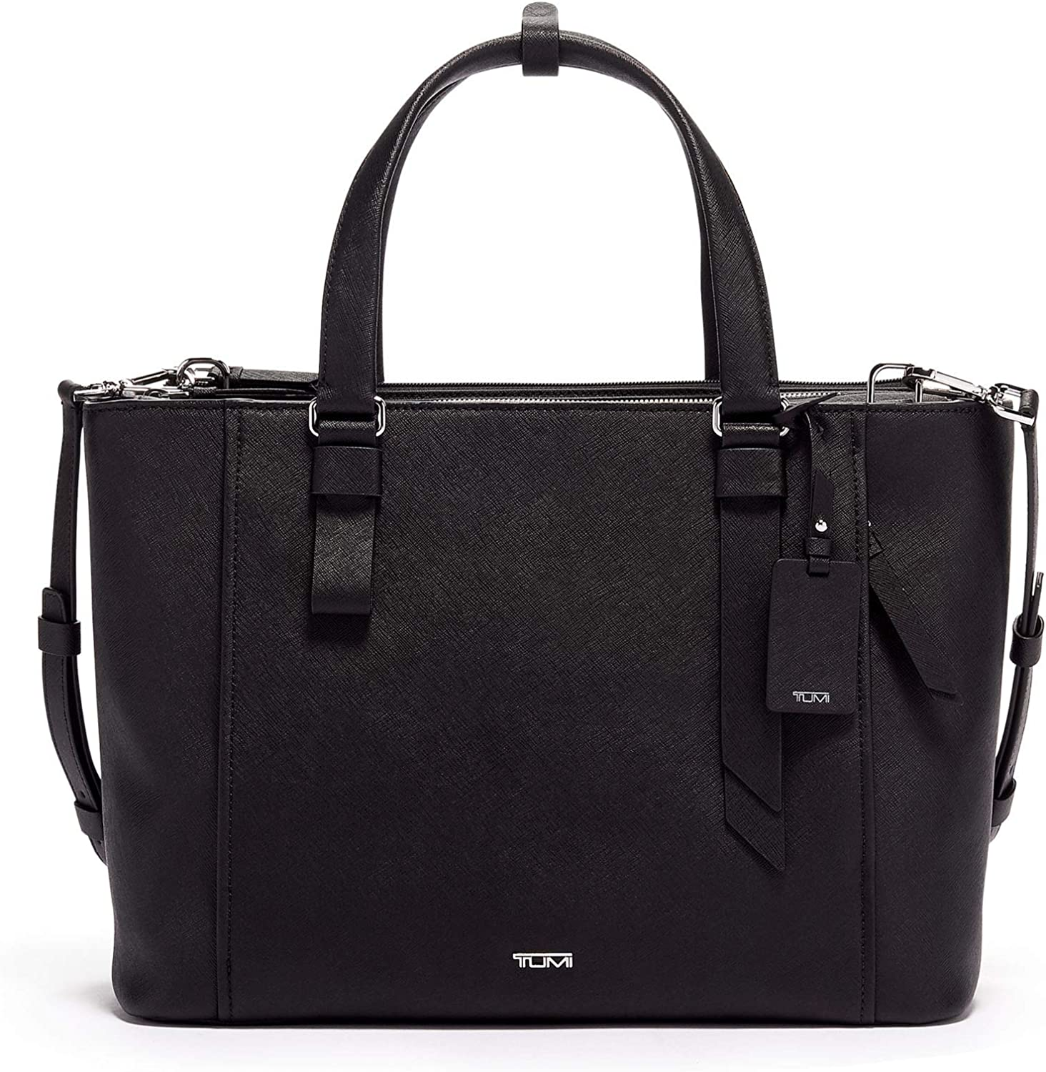 TUMI - Varek Park Leather Laptop Tote - 12 Inch Computer Bag for Men and Women - Black