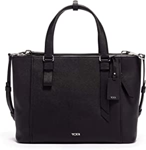 TUMI - Varek Park Leather Laptop Tote - 12 Inch Computer Bag for Men and Women - Black