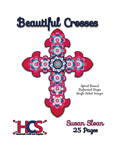 Beautiful Crosses - Adult Coloring Book - Spiral Bound