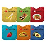 green sprouts Pull-Over Food Bib |  Convenient