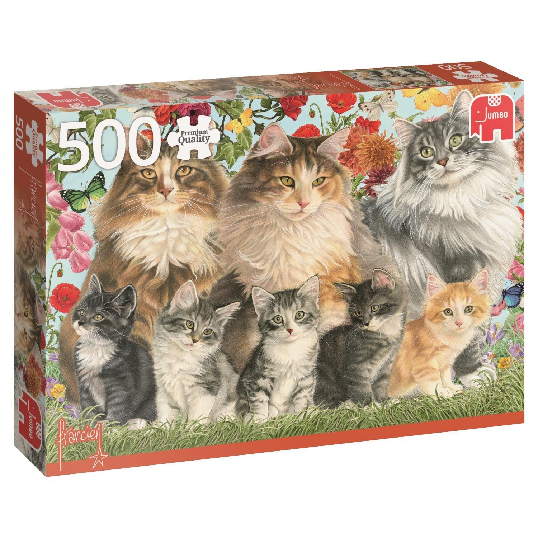 驚きの値段で 500ピース 18325 ジグソーパズル Jumbo B014SE89FQ 猫の家族 Francien's 500ピース Cat Family 18325 B014SE89FQ, ヤカゲチョウ:8fa88239 --- a0267596.xsph.ru
