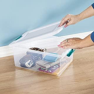 product image for Sterilite 15 Qt./14 L Latching Box Clears, Quart, White, 12 Piece