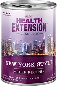 Health Extension Grain Free New York Style Canned Wet Dog Food - (12) 12.5 Oz Cans