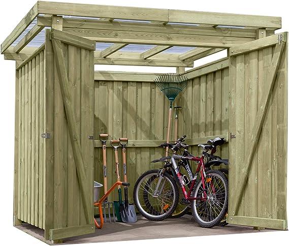 Gartenpirat - Cobertizo de jardín (Madera con tejado Plano Tipo 1 ...