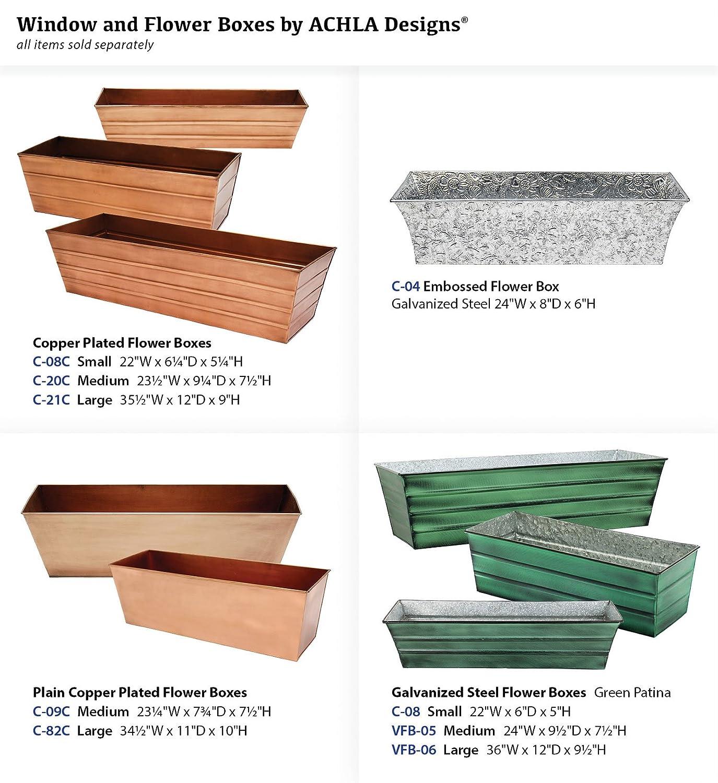 Amazon Achla Designs Copper Window Flower Box Planter