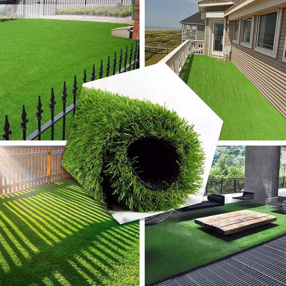 PET GROW Alfombra de césped artificial realista, interiores y exteriores, para jardín, césped o patio, alfombra de césped sintético, gruesa: Amazon.es: Jardín