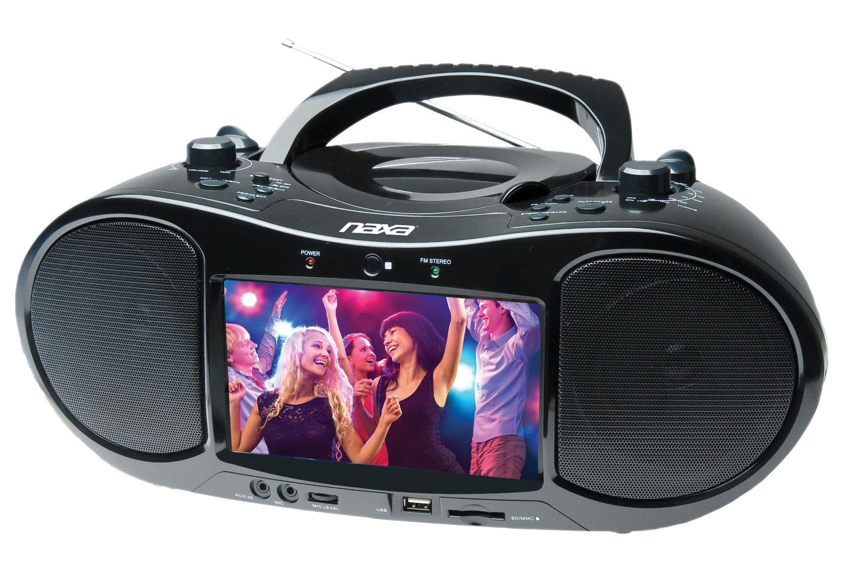 NAXA Electronics NDL-257 7'' Bluetooth DVD Boombox & TV by Naxa Electronics