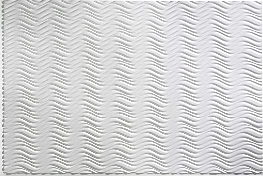 Fasade Fast and Easy Installation Wavations Matte White 32 x 48 Decorative Wainscot Panel