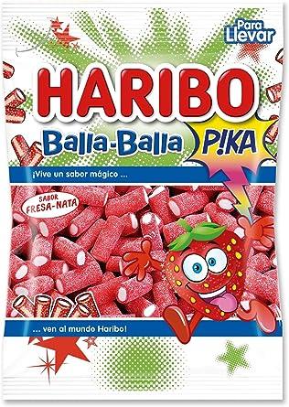 Haribo - Fresa Balla Pica - Geles Dulces - 100 g - , Pack de 6 ...