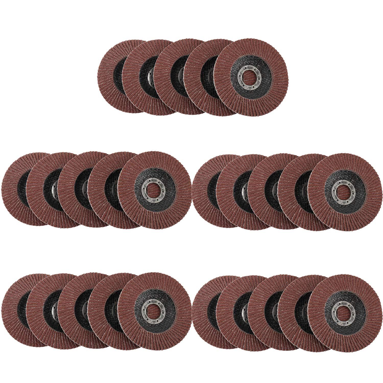 Yaegarden 115MM//4.5 Flap Sanding Discs 25 Packs 40 Grit Flap Disc Aluminium Oxide Abrasive Stainless Steel Grinding Wheels for Metal Wood Sanding Polishing