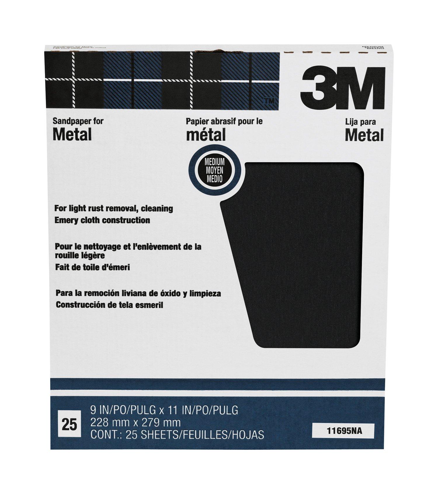 3M Pro-Pak Emery Cloth, Medium Grit, 9-Inch by 11-Inch by 3M (Image #1)