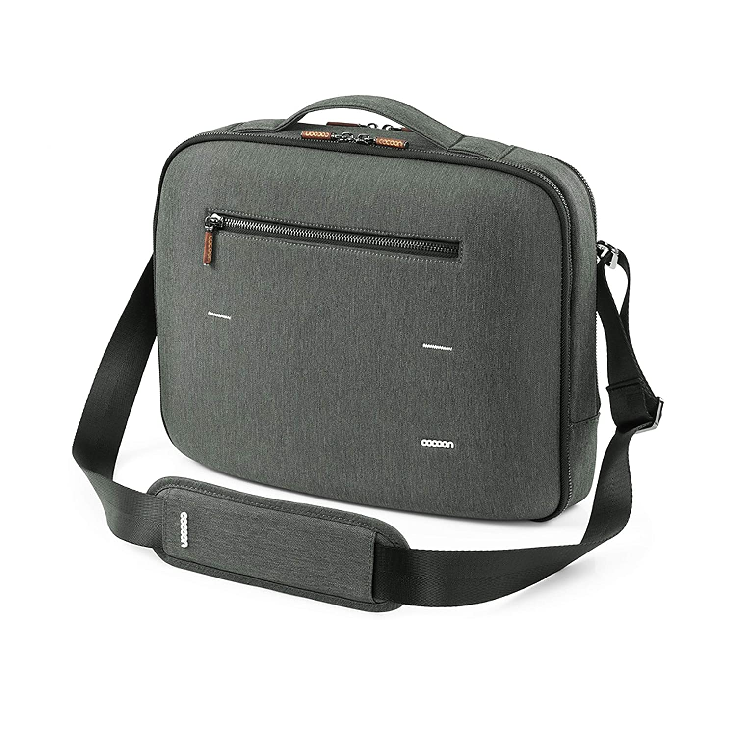 Cocoon Innovations Accessory Organizer Graphite Gray Cocoon MCP3202GF Graphite 13 Brief with Built-in Grid-IT