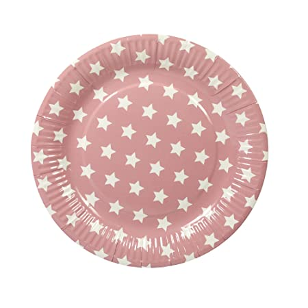 60 Paper Plates Disposable Plates Pink with White Stars (Value Pack)  sc 1 st  Amazon UK : disposable plates uk - pezcame.com