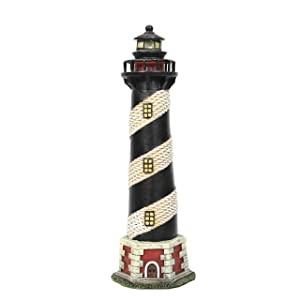 Hosley 8 Inch Tall Tabletop Resin Lighthouse Blinking Tower Light Ideal Gift for Wedding Home Party Favor Spa Reiki Meditation Bathroom Settings O6