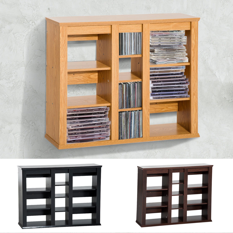 Generic NV_1008004420-QYUS484420 Shelf DVD Wall Mou Floating Storage Triple Wall Triple Wall Mounted ing Stor Rack Organizer rganizer CD Media Rack Organizer