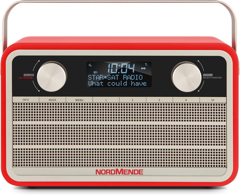 Nordmende Transita 120 Tragbares Dab Radio Dab Ukw 24 Stunden Akku Aux In Wecker 2 Weckzeiten Sleeptimer Snooze Funktion Kopfhöreranschluss Rot Heimkino Tv Video