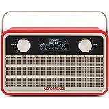 Nordmende Transita 120 Digital-Radio (portabel, DAB+, UKW, 24 Stunden Akku, Aux In, Weckfunktion, 2 Weckzeiten, Sleeptimer, Snooze-Funktion, Kopfhöreranschluss, 5 W (RMS)) rot