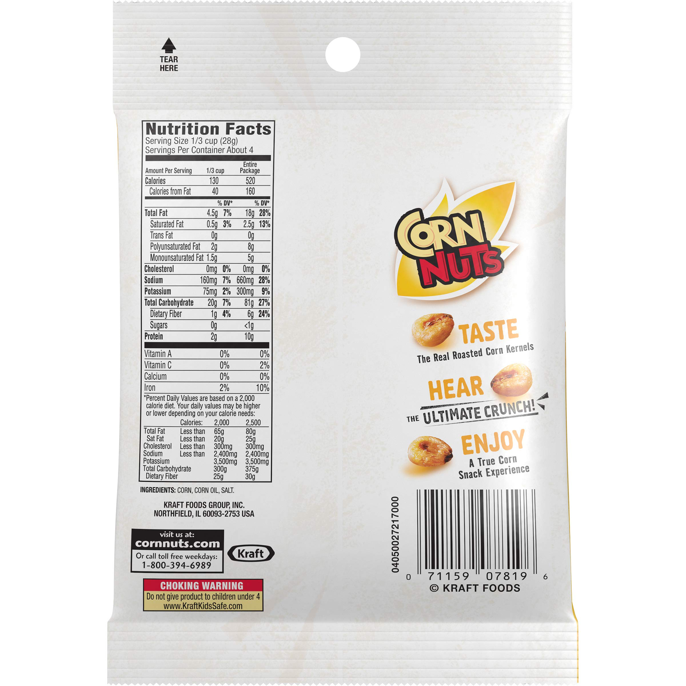 Corn Nuts Original Crunchy Corn Kernels (4 oz Bags, Pack of 12) by Cornnuts (Image #4)