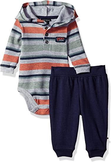Lucky Brand Baby Set of 5 One-Pieces 0-3; 3-6;6-9 Mo Bodysuits