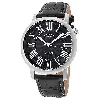 Rotary Reloj Análogo clásico para Hombre de Automático con Correa en Cuero GLE000010/10S: Amazon.es: Relojes