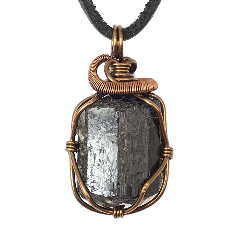October birthstone Sterling silver Empath Protection gift Black Tourmaline necklace Raw black tourmaline raw stone necklace