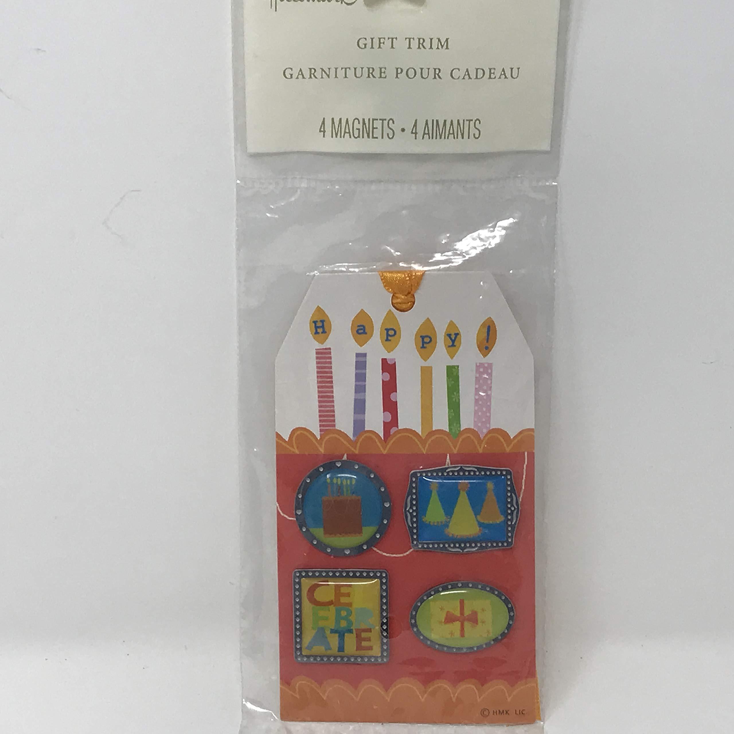 Hallmark Gift Trim Tag with 4 Magnets (Birthday)
