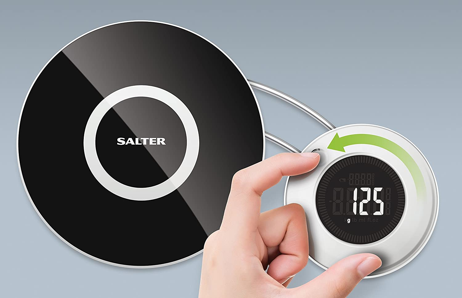 Salter Target Digital Kitchen Scale with Voice Feature, Black ...