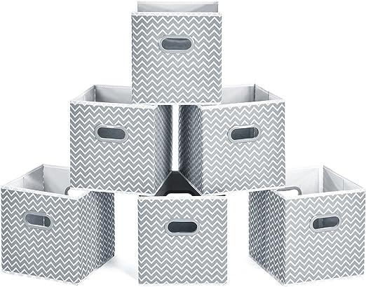 MaidMAX Cubos de Almacenaje, Cajas Plegables de Tela con Doble ...