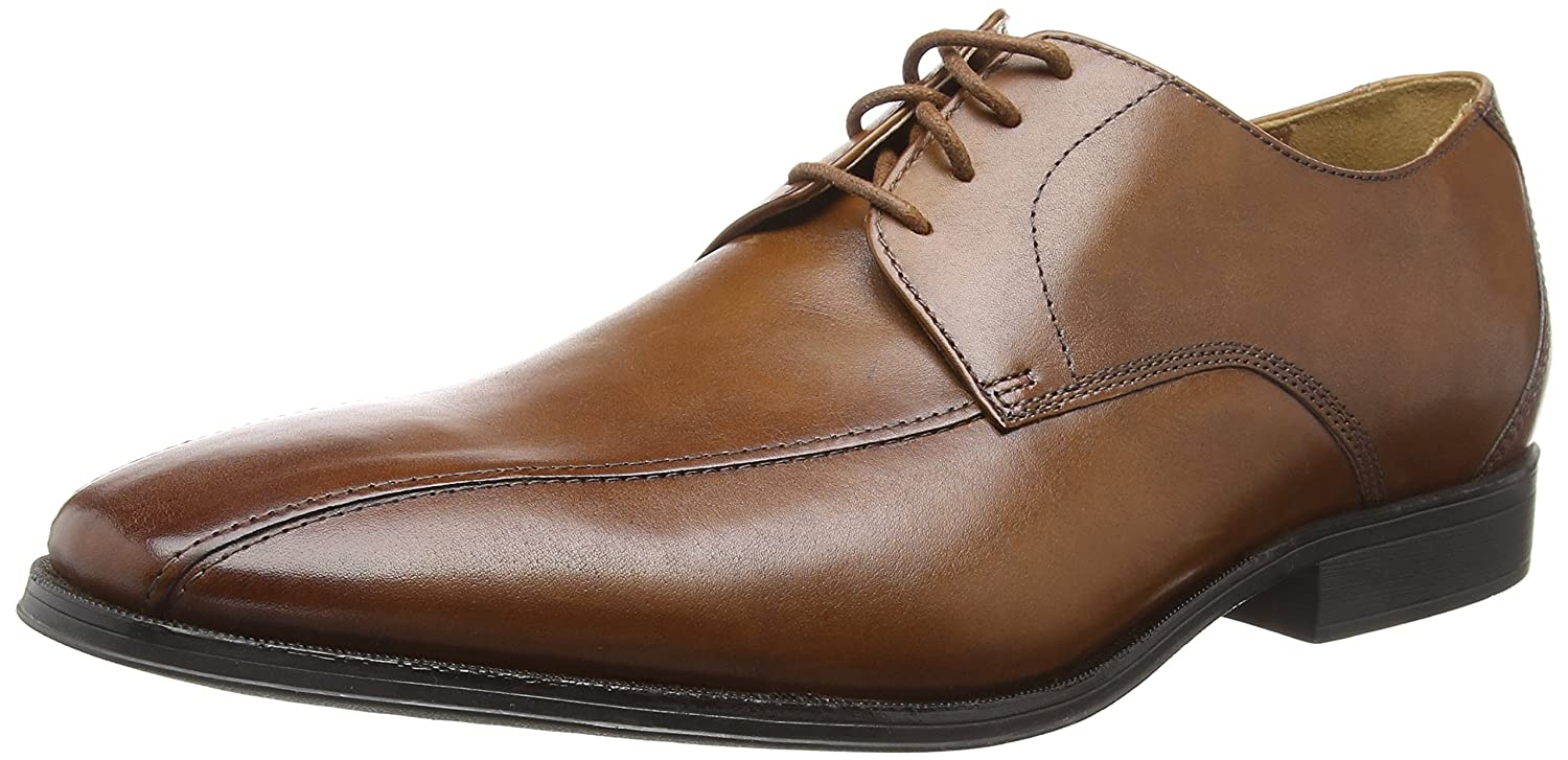 Clarks Gilman Mode, Derby para Hombre 42 EU|Marrón (Dark Tan Lea -)