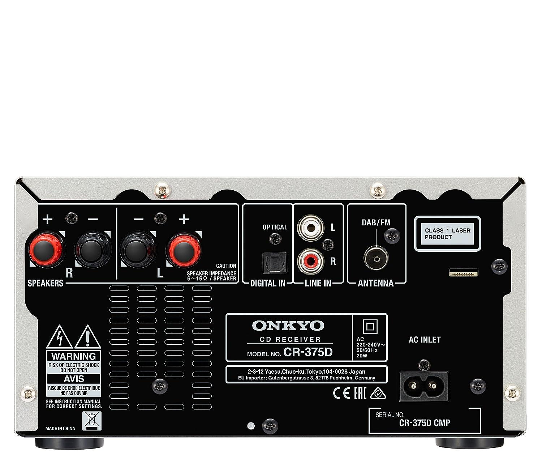 Onkyo CS-375D-SB - Sistema Receptor de CD, Color Plata