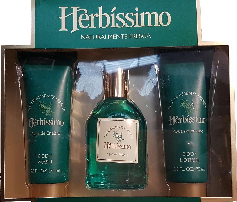 HERBISSIMO COLONIA ENEBRO ESTUCHE 3 PIEZAS COLONIA 60 ML GEL 75 ML Y BODY MILK 75 ML