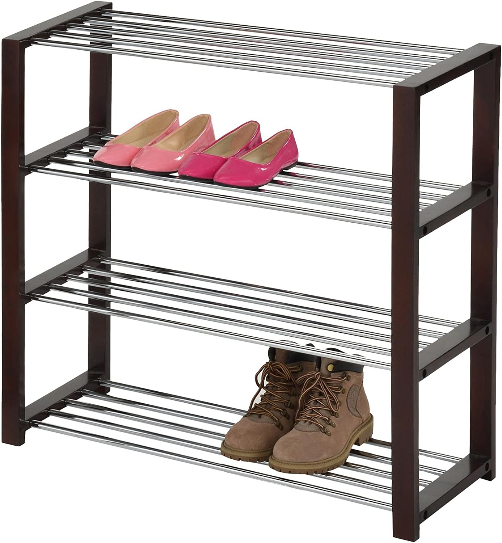IDIMEX Schuhregal Dublin Schuhablage Schuhst/änder Schuhaufbewahrung aus Metall mit 3 B/öden in wei/ß