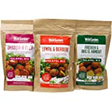 Wild Garden Ancient Grains Falafel Mix, Variety 3-Pack, 100% All-Natural, Quinoa & Beet, Lentil & Berbere, Freekeh, Resealabl