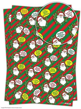 2 sheets of funny cheeky rude santa christmas gift wrap amazon 2 sheets of funny cheeky rude santa christmas gift wrap negle Gallery